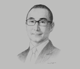 Sketch of Lawrence Ho, Chairman and CEO, Melco Resorts & Entertainment