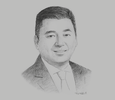Sketch of Dennis Uy, Founder and Chairman, Chelsea Logistics