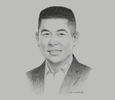 Sketch of Edgar Injap Sia II, CEO and Chairman, DoubleDragon Properties