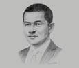 Sketch of Steve Dicdican, CEO, Mactan-Cebu International Airport