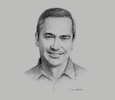 Sketch of Hans Bayaborda, Managing Director, Microsoft Philippines