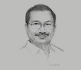 Sketch of  Emmanuel Piñol, Secretary of Agriculture