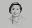 Sketch of Marivic Españo, CEO and Chairperson, P&A Grant Thornton