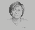 Sketch of Angela Merkel, Chancellor of Germany
