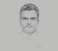 Sketch of Antoine Gustin, CEO, BNP Paribas Thailand; and Chairman, Association of International Banks
