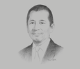 Sketch of Chaipatr Srivisarvacha, CEO, KT ZMICO Securities Company; and Governor, Stock Exchange of Thailand (SET)