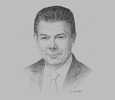 Sketch of Juan Manuel Santos, Former President of Colombia; and Former President Pro Tempore, Pacific Alliance