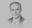 Sketch of Roque Benavides, President, National Convention of Private Business Institutions