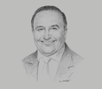 Sketch of Wilber Dongo, Central Business Director, Caja Arequipa