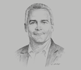 Sketch of Rik de Buyserie, CEO and Country Manager, Engie Peru