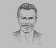 Sketch of Javier Lancha de Micheo, CEO, APM Terminals Callao