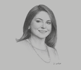 Sketch of Adriana Giudice, General Manager, Austral Group