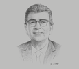 Sketch of Jorge Yzusqui, General Manager, Innova Schools