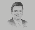 Sketch of Humberto Astete Miranda, Tax Partner, EY Perú