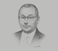 Sketch of Jorge Faurie, Minister of Foreign Affairs and Worship