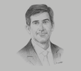 Sketch of Juan Pablo Tripodi, Executive President, Argentine Investment and Trade Promotion Agency