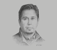 Sketch of David Guerrero, CEO, Galaxy Lithium