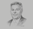 Sketch of Alberto Edgardo Barbieri, Dean, University of Buenos Aires
