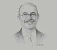 Sketch of Peter Lowing, Partner, Leahy Lewin Lowing Sullivan Lawyers