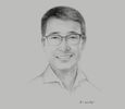 Sketch of Jacky Xu Qiang, CEO, Huawei Pacific
