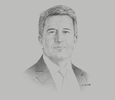 Sketch of Greg Worthington-Eyre, CEO, Trukai Industries