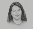 Sketch of Carolyn Blacklock, Acting Managing Director, PNG Power