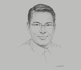 Sketch of Ritche Rivera, Vice-Chairman, RD Corporation