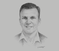 Sketch of Craig Lennon, Managing Director and CEO, Highlands Pacific