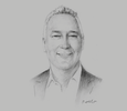 Sketch of Keith Land, CEO, Capital Insurance Group