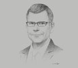 Sketch of Stephen P Groff, Vice-President, Asian Development Bank (ADB)