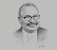 Sketch of Prime Minister Peter O'Neill