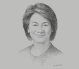 Sketch of Karen Darbasie, Group CEO, First Citizens Trinidad and Tobago