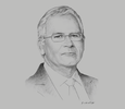 Sketch of Ronald Harford, Chairman, Republic Financial Holdings