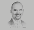 Sketch of Garvin Medera, CEO, Caribbean Airlines Limited (CAL)