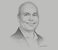 Sketch of Joe Pires, Managing Director, Caribbean Chemicals and Agencies