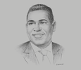Sketch of Gregory N Hill, Managing Director, ANSA Merchant Bank