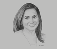 Sketch of Patricia Ghany, President, American Chamber of Commerce of Trinidad and Tobago