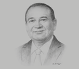 Sketch of Franklin Khan, Minister of Energy and Energy Industries