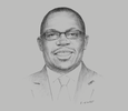 Sketch of Geoffrey Odundo, CEO, Nairobi Securities Exchange (NSE)