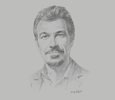 Sketch of Ahmed Rady, General Manager, East Africa Coca-Cola