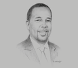 Sketch of Johnson Ole Nchoe, Managing Director and CEO, Geothermal Development Company