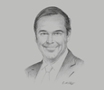 Sketch of Ray W Washburne, President and CEO, Overseas Private Investment Corporation (OPIC)
