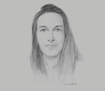 Sketch of Mélanie Guérinot, Lawyer and Managing Director, Cabinet Guérinot