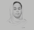 Sketch of Amina Abdi Aden, Delegate Minister of Housing