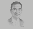 Sketch of Justin Yifu Lin, Director, Institute of New Structural Economics, Peking University