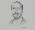 Sketch of Ahmed Osman Ali, Governor, Central Bank of Djibouti