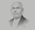 Sketch of Ilyas Moussa Dawaleh, Minister of Economy and Finance