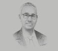 Sketch of Aboubaker Omar Hadi, Chairman, Djibouti Ports and Free Zones Authority