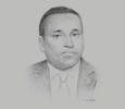 Sketch of Yonis Ali Guedi, Minister of Energy and Natural Resources