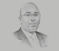 Sketch of Youssouf Moussa Dawaleh, President, Chamber of Commerce of Djibouti (Chambre de Commerce de Djibouti, CCD)